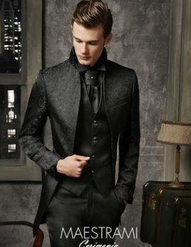 abito da sposo modello guru con giacca blu royal petrelli