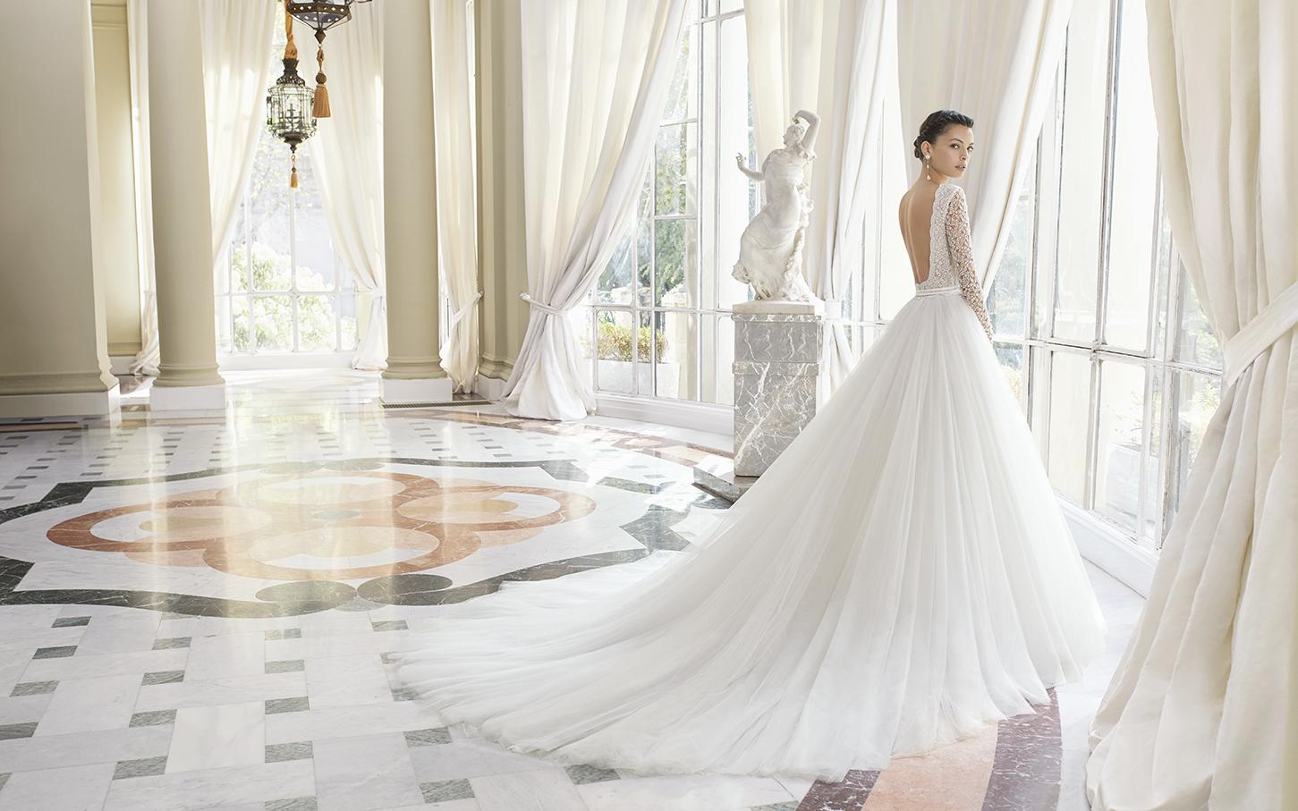 Abito da sposa principesco con gonna in tulle il giardino della sposa - Il giardino della sposa ...