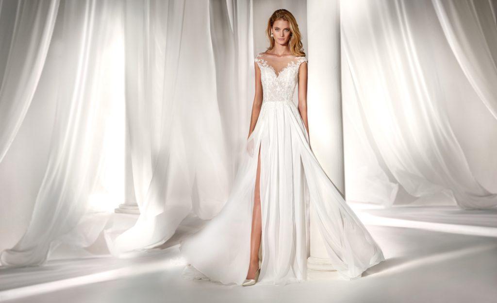 Abito da sposa modello scivolato il giardino della sposa - Il giardino della sposa ...